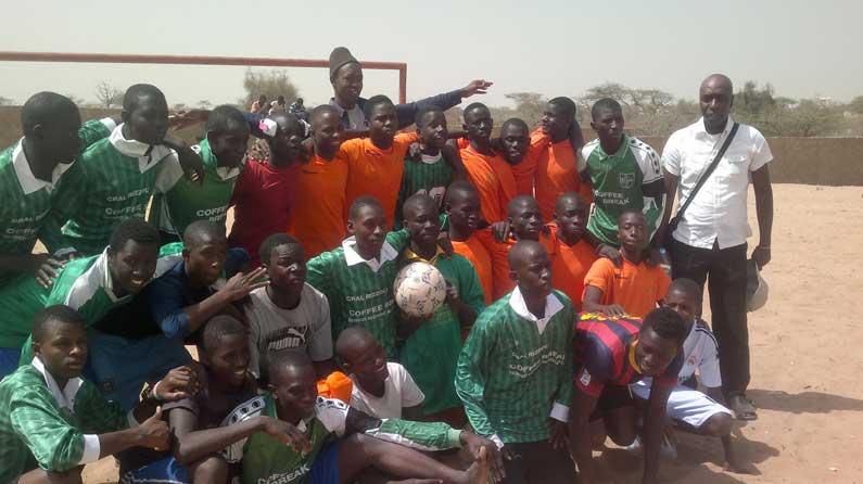 Fussball Turnier in Saint-Louis im Senegal mit Talibés-Kinder